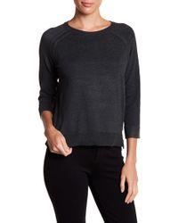 Philosophy Apparel - 3/4 Length Sleeve Pointelle Knit Sweater - Lyst