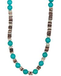 Link Up - Shell Discs Beaded Necklace - Lyst