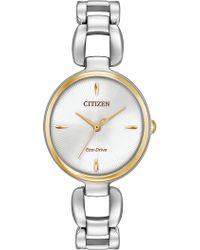Citizen - Eco-drive Stainless Steel Bracelet Watch - Lyst