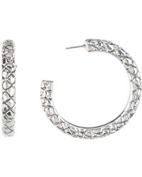 Simon Sebbag - Sterling Silver Croc Pierced Hoop Earrings - Lyst