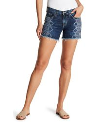 Big Star - Alex Geo Print Midrise Frayed Shorts - Lyst