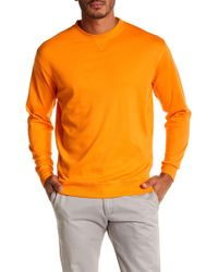 Peter Millar - Interlock Crew Neck Sweatshirt - Lyst