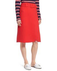 Halogen - (r) Belted Skirt (regular & Petite) - Lyst