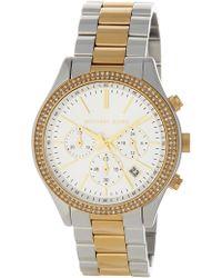 MICHAEL Michael Kors - Michael Kors 'slim Runway' Crystal Bezel Chronograph Bracelet Watch, 42mm (nordstrom Exclusive) - Lyst