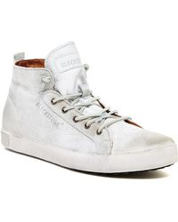 Blackstone - Distressed Leather Trainer - Lyst