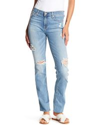 7 For All Mankind - Dylan Ripped Straight Leg Jeans - Lyst