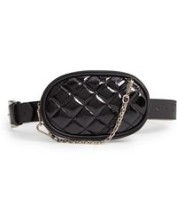 Steve Madden - Quilted Faux Leather Belt Bag - Lyst
