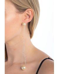 Marc Jacobs - Pearl Chain Drop Earring - Lyst
