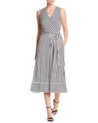 Eci - Sleeveless Stripe Jumpsuit - Lyst