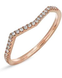 Bony Levy - 18k Rose Gold Diamond Geo Wavy Stackable Ring - 0.13 Ctw - Lyst