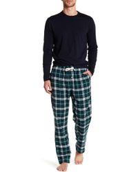 Joe Fresh | Long Sleeve Tee & Flannel Pajama Bottoms Set | Lyst
