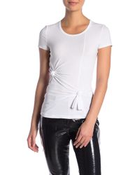 Helmut Lang - Techno Knot Baby Tee - Lyst
