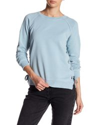 Sincerely Jules - Harper Side Lace-up Sweatshirt - Lyst