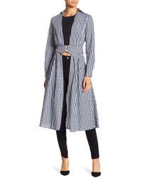 Haute Rogue - Open Front Gingham Dress - Lyst