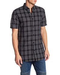 Zanerobe - Check Short Sleeve Regular Fit Shirt - Lyst