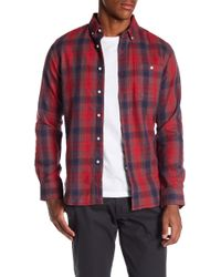 Knowledge Cotton Apparel | Yarn Dyed Checked Button Down Shirt | Lyst
