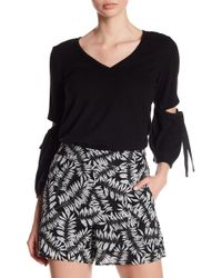 1.STATE - 3/4 Length Slit Sleeve Top - Lyst