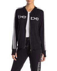 Bebe - Velour Trim Fleece Jacket - Lyst