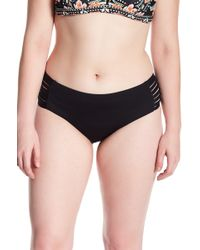 Becca - Electric Current Cutout Hipster Bikini Bottoms (plus Size) - Lyst