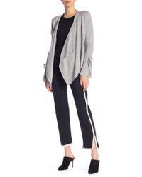 In Cashmere - Contrast Stripe Cashmere Pants - Lyst