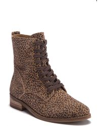 Lucky Brand - Hestawn Leather Lace-up Boot - Lyst