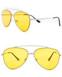 William Rast - 57mm Aviator Sunglasses - Lyst