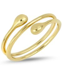 Bony Levy - 14k Yellow Gold Coil Teardrop Accent Ring - Lyst