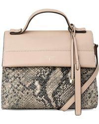 T Tahari - Sienne Small Flap Leather Crossbody Bag - Lyst