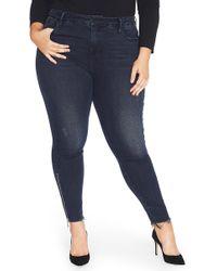REBEL WILSON X ANGELS - Side Leg Zipper Ankle Jegging (plus Size) - Lyst