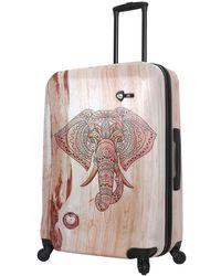 Mia Toro Italy Wood Elephant Hard Shell Luggage
