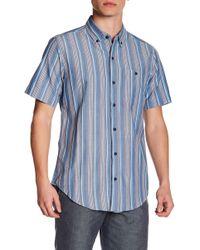 Ezekiel - Stillwater Button-down Short Sleeve Regular Fit Shirt - Lyst