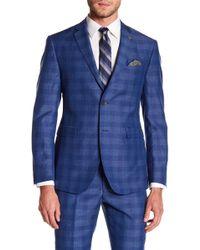 Original Penguin - Bright Blue Plaid Two Button Notch Lapel Suit Separates Jacket - Lyst
