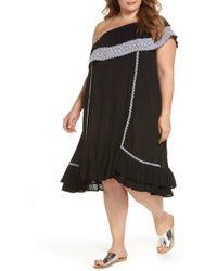 Muche Et Muchette - Gavin One-shoulder Cover-up Dress (plus Size) - Lyst