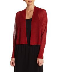 Eileen Fisher - Cropped Cardigan - Lyst