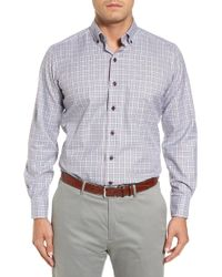 David Donahue - Regular Fit Plaid Sport Shirt - Lyst