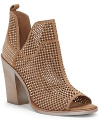 Vince Camuto - Kimmini Open Toe Studded Bootie - Lyst