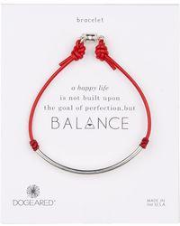 Dogeared - Balance Tube Leather Bracelet - Lyst