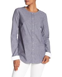 Michael Stars - Stripe Contrast Button Down Shirt - Lyst