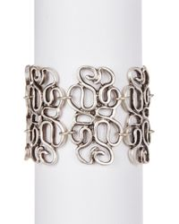 TMRW STUDIO - Antique Silver Plated Open Work Beaded Bracelet - Lyst