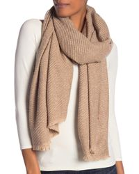 Modena - Marled Boucle Pleated Scarf - Lyst
