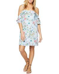 Sanctuary - Primrose Ruffle Cold Shoulder Dress - Lyst