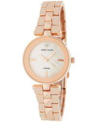 Anne Klein - Women's Mother Of Pearl Diamond Bracelet Watch, 28mm - 0.05 Ctw - Lyst
