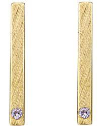 Moon & Lola - Chelsea Brushed Bar Drop Earrings - Lyst
