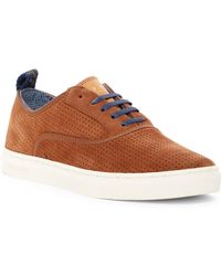 Ted Baker - Odonel Perforated Suede Trainer - Lyst
