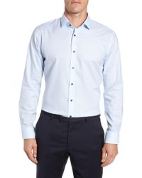 Calibrate - Trim Fit No-iron Solid Dress Shirt - Lyst
