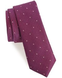 Calibrate - Houndstooth Dot Silk Tie - Lyst