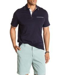 7 Diamonds - Zephyr Contrast Piping Polo Shirt - Lyst