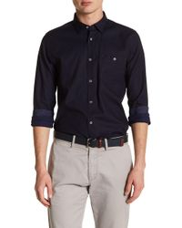 Ted Baker - Nordlux Modern Slim Fit Stretch Cotton Sport Shirt - Lyst