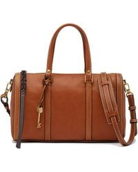 Fossil | Kendall Leather Satchel | Lyst