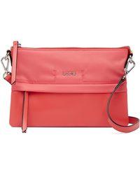 Lodis - Kate Leather Trimmed Nylon Rfid Kala Convertible Crossbody Bag - Lyst